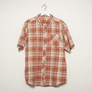Marmot Men's Orange Checkered Button Down Shirt